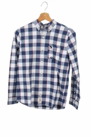Детска риза Abercrombie Kids, Размер 11-12y/ 152-158 см, Цвят Син, 98% памук, 2% еластан, Цена 46,92лв.