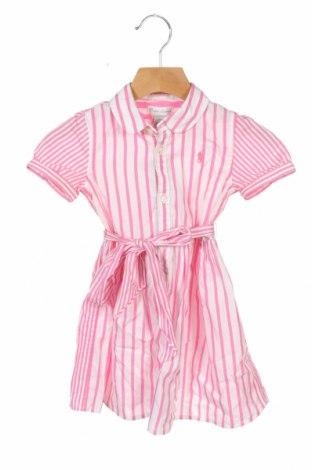Rochie de copii Ralph Lauren, Mărime 18-24m/ 86-98 cm, Culoare Roz, Bumbac, Preț 212,95 Lei