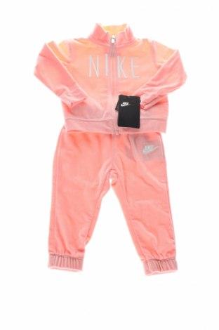 Dresy dziecięce Nike, Rozmiar 12-18m/ 80-86 cm, Kolor Różowy, Poliester, Cena 142,20zł