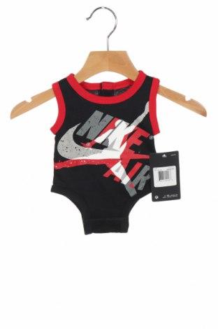 Детско боди Air Jordan Nike, Размер 0-1m/ 50 см, Цвят Черен, Памук, Цена 32,45лв.