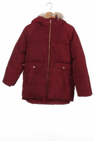 Детско яке Zara Kids, Размер 13-14y/ 164-168 см, Цвят Червен, Полиестер, пух и пера, Цена 68,88лв.