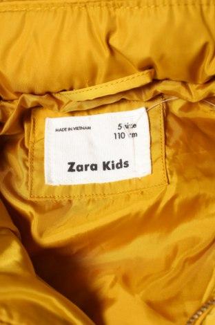 Детско яке Zara Kids, Размер 4-5y/ 110-116 см, Цвят Жълт, Полиестер, Цена 62,00лв.