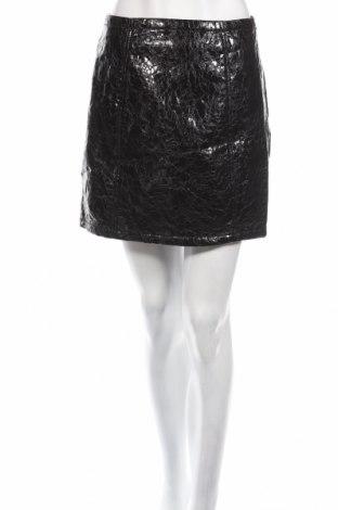 Кожена пола Atmos & Here, Размер M, Цвят Черен, Еко кожа, Цена 11,03лв.