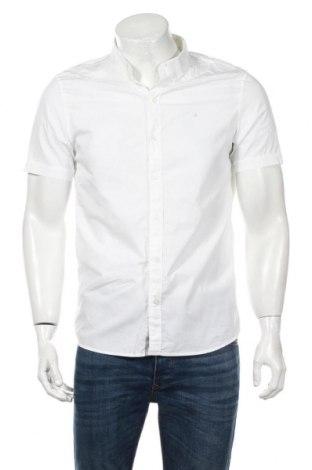 Cămașă de bărbați Calvin Klein Jeans, Mărime M, Culoare Alb, 98% bumbac, 2% elastan, Preț 177,16 Lei