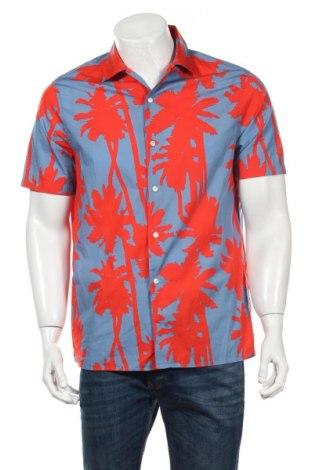 Мъжка риза J.Lindeberg, Размер M, Цвят Син, Памук, Цена 92,40лв.