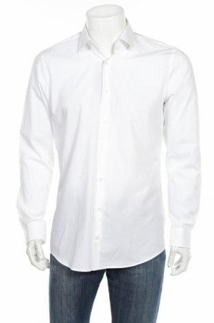 Мъжка риза Strellson, Размер L, Цвят Бял, Памук, Цена 40,05лв.