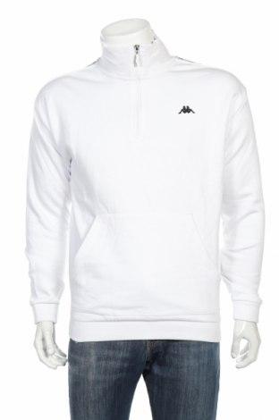 Мъжка спортна блуза Kappa, Размер M, Цвят Бял, 80% памук, 20% полиестер, Цена 56,00лв.