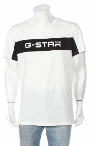 Tricou de bărbați G-Star Raw, Mărime XL, Culoare Alb, Bumbac, Preț 129,47 Lei