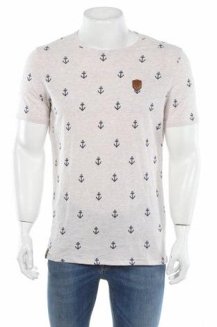 Мъжка тениска Naketano, Размер L, Цвят Бежов, 50% памук, 50% полиестер, Цена 72,00лв.