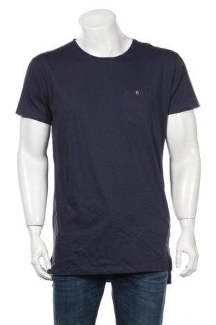 Мъжка тениска Premium, Размер L, Цвят Син, Памук, Цена 10,24лв.