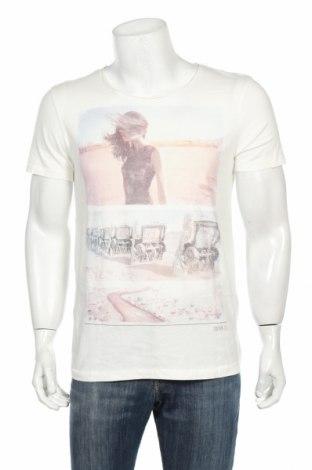 Tricou de bărbați Tom Tailor, Mărime M, Culoare Alb, Bumbac, Preț 80,69 Lei