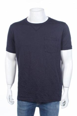 Tricou de bărbați Uniqlo, Mărime L, Culoare Albastru, 65% bumbac, 35% poliester, Preț 81,90 Lei