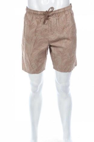 Pantaloni scurți de bărbați, Mărime L, Culoare Bej, Bumbac, Preț 47,25 Lei