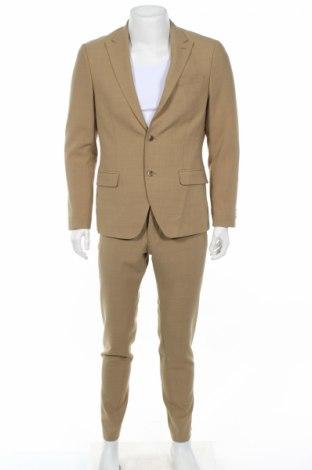 Pánsky oblek  Bertoni, Veľkosť M, Farba Béžová, 55% polyester, 45% vlna, Cena  95,37€