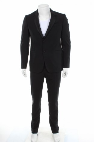 Pánsky oblek  Emporio Armani, Veľkosť M, Farba Čierna, 96% vlna, 4% elastan, Cena  198,97€