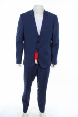 Pánsky oblek  Hugo Boss, Veľkosť XL, Farba Modrá, 74% vlna, 22% polyester, 4% elastan, Cena  267,53€