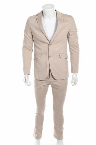 Pánsky oblek  Pier One, Veľkosť S, Farba Béžová, 69% polyester, 29% viskóza, 2% elastan, Cena  128,35€