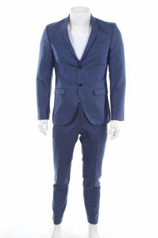 Pánsky oblek  Tiger Of Sweden, Veľkosť M, Farba Modrá, Vlna, Cena  98,91€