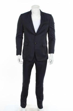 Pánsky oblek  Tiger Of Sweden, Veľkosť M, Farba Modrá, 46% polyester, 32% vlna, 22% acetát, Cena  134,24€