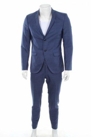 Pánsky oblek  Tiger Of Sweden, Veľkosť M, Farba Modrá, Vlna, Cena  114,13€