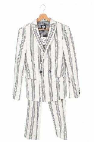 Pánsky oblek  Twisted Tailor, Veľkosť XS, Farba Biela, 82% bavlna, 16% viskóza, 2% elastan, Cena  57,40€