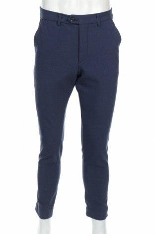 Мъжки панталон Jack & Jones, Размер L, Цвят Син, Цена 27,65лв.