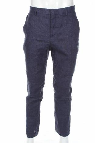 Ανδρικό παντελόνι Pier One, Μέγεθος L, Χρώμα Μπλέ, Λινό, Τιμή 21,03€