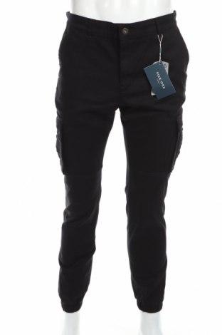 Ανδρικό παντελόνι Pier One, Μέγεθος L, Χρώμα Μαύρο, 98% βαμβάκι, 2% ελαστάνη, Τιμή 29,32€