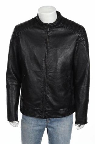 Мъжко кожено яке Celio, Размер XL, Цвят Черен, Еко кожа, Цена 71,40лв.