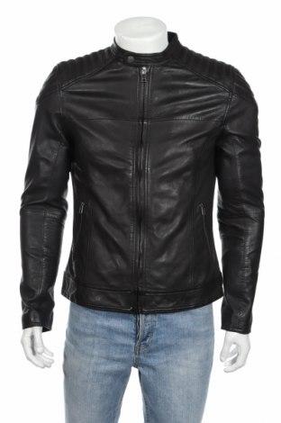 Мъжко кожено яке Goosecraft, Размер M, Цвят Черен, Естествена кожа, Цена 268,50лв.