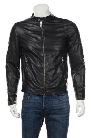 Мъжко кожено яке Guess, Размер XS, Цвят Черен, Еко кожа, Цена 138,72лв.