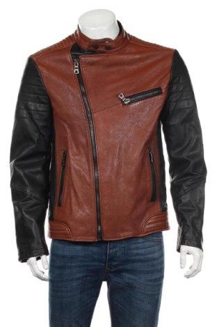Мъжко кожено яке Marciano, Размер L, Цвят Кафяв, Естествена кожа, Цена 310,96лв.