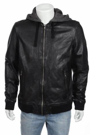 Ανδρικό δερμάτινο μπουφάν Oakwood, Μέγεθος XL, Χρώμα Μαύρο, Γνήσιο δέρμα, Τιμή 148,08€