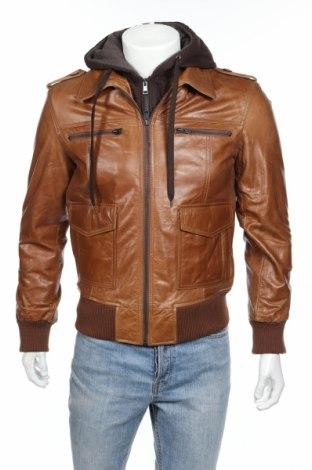 Мъжко кожено яке SERGE PARIENTE, Размер L, Цвят Кафяв, Естествена кожа, Цена 253,76лв.