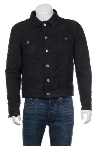 Мъжко кожено яке SERGE PARIENTE, Размер L, Цвят Син, Естествена кожа, Цена 190,82лв.
