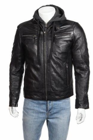 Мъжко кожено яке SERGE PARIENTE, Размер M, Цвят Черен, Естествена кожа, Цена 272,02лв.