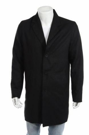 Pánský kabát  ! Solid, Rozměr L, Barva Černá, 56% polyester, 40%acryl, 4% polyamide, Cena  2348,00Kč