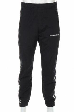 Pantaloni trening de bărbați Calvin Klein, Mărime L, Culoare Negru, 70% bumbac, 30% poliamidă, Preț 187,58 Lei