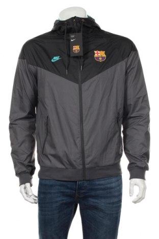 Мъжко спортно яке Nike, Размер M, Цвят Сив, Полиестер, Цена 99,28лв.