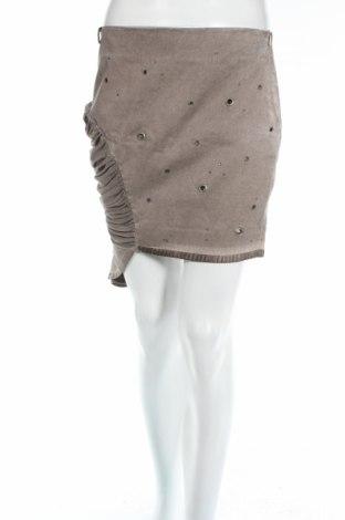 Φούστα Dqmane, Μέγεθος S, Χρώμα  Μπέζ, 70% βαμβάκι, 30% βισκόζη, Τιμή 4,25€
