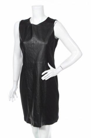 Рокля Adrienne Vittadini, Размер M, Цвят Черен, Полиестер, вискоза, еластан, еко кожа, Цена 18,20лв.