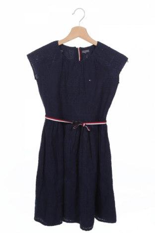 Dziecięca sukienka Tommy Hilfiger, Rozmiar 8-9y/ 134-140 cm, Kolor Niebieski, 100% bawełna, Cena 168,46zł