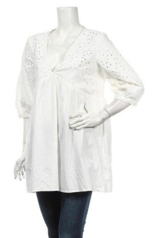 Tunika Zara, Rozmiar M, Kolor Biały, 85% bawełna, 15% len, Cena 76,70zł