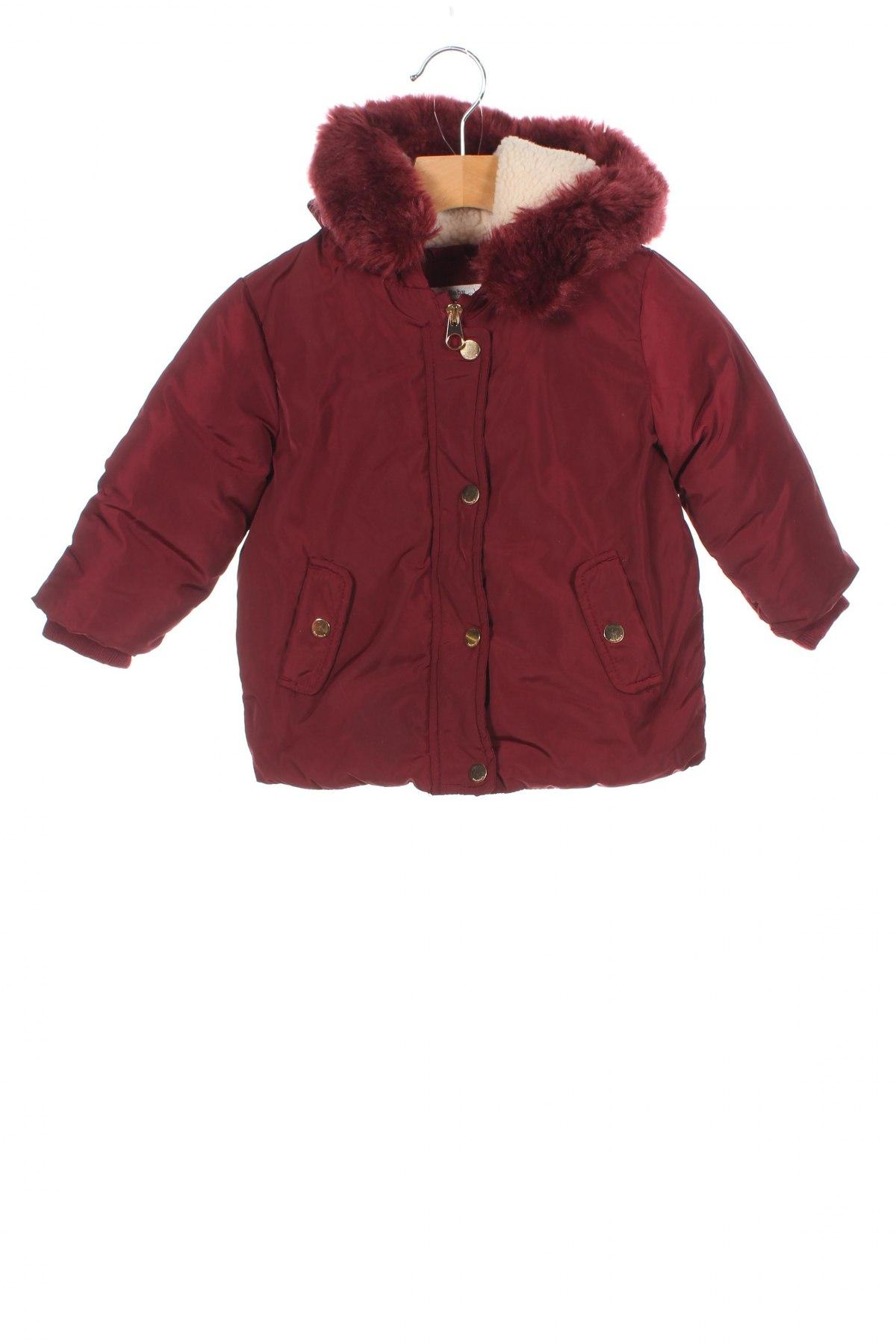 Детско яке Zara, Размер 12-18m/ 80-86 см, Цвят Червен, Полиестер, Цена 58,08лв.