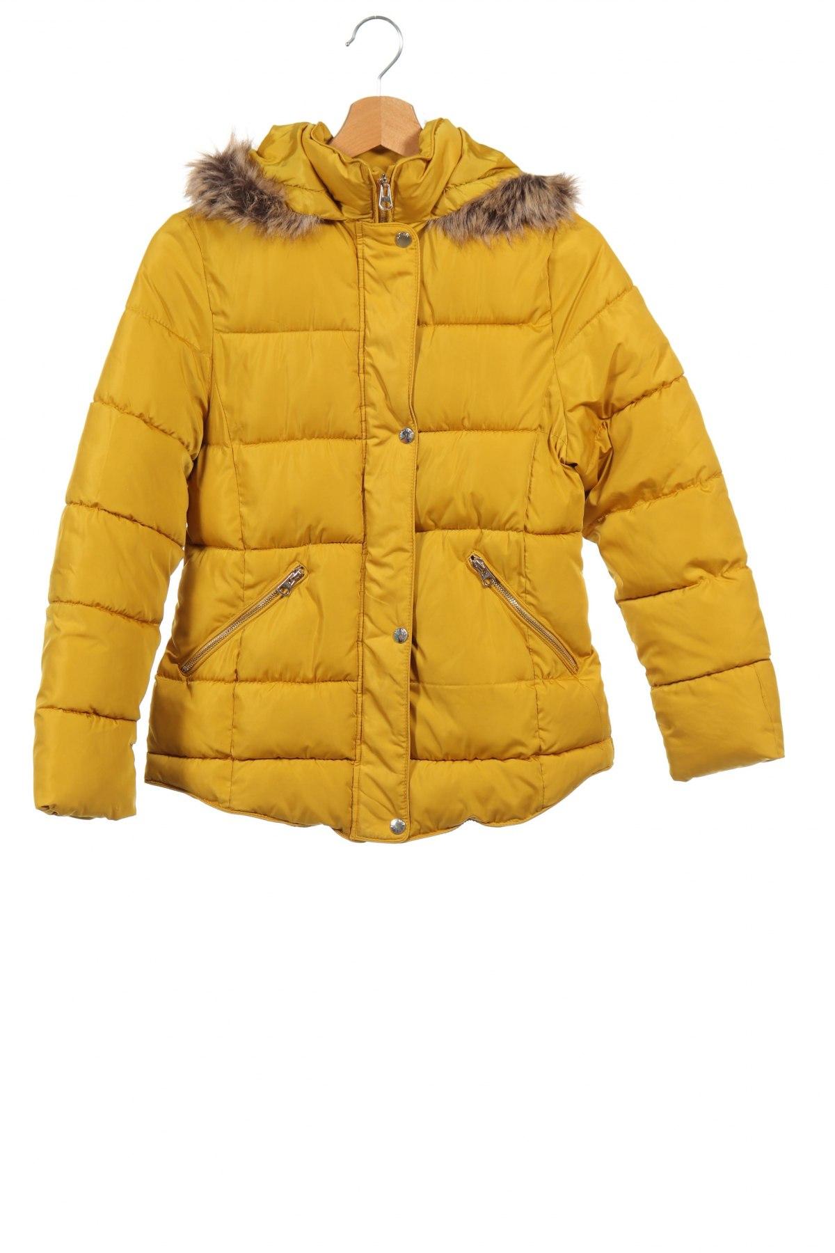 Детско яке Zara Kids, Размер 13-14y/ 164-168 см, Цвят Жълт, Цена 54,56лв.