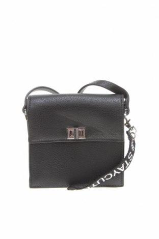 Чанта за кръст Clockhouse, Цвят Черен, Еко кожа, Цена 17,06лв.