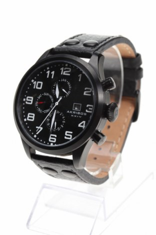 Ρολόι Akribos XXIV, Χρώμα Μαύρο, Γνήσιο δέρμα, μέταλλο, Τιμή 106,58€