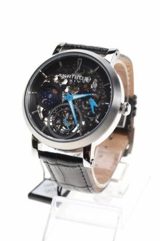 Ρολόι Akribos XXIV, Χρώμα Μαύρο, Γνήσιο δέρμα, μέταλλο, Τιμή 139,02€
