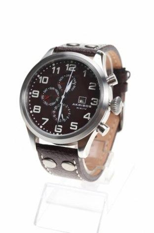 Ρολόι Akribos XXIV, Χρώμα Καφέ, Γνήσιο δέρμα, μέταλλο, Τιμή 278,04€