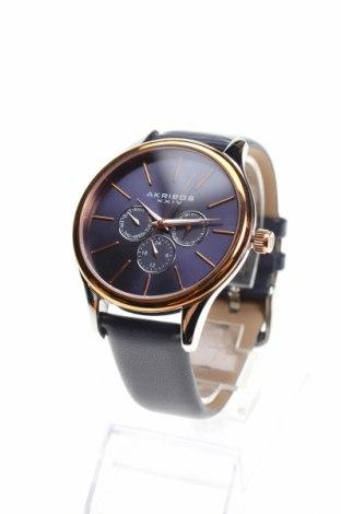 Ρολόι Akribos XXIV, Χρώμα Μπλέ, Γνήσιο δέρμα, μέταλλο, Τιμή 194,54€